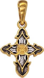 Серебряный православный <b>крестик</b> без распятия <b>Акимов</b> 101.242