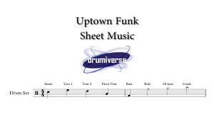 Uptown Funk By Mark Ronson Ft Bruno Mars Drum Score Request 20