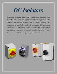 Small kitchen appliances fall into three different types. Dc Isolators By Jamescooper Issuu