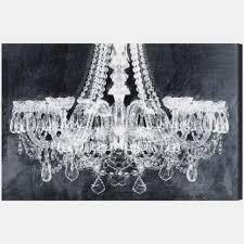 wall art stunning chandelier canvas art black and white super tech black and white chandelier canvas