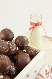 Chocolate Cake Pops In A Wooden Box Stock Photo Creativefamily