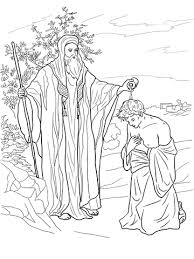Small Picture Samuel anoints Saul as King coloring page Free Printable