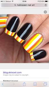 Candy corn nail art