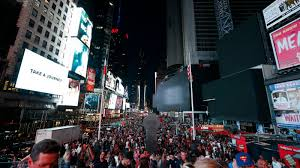 power red in manhattan after oue darkens times square disrupts traffic