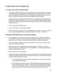 interfolio upload letter of recommendation fillable online guide for using interfolio fax email print pdffiller