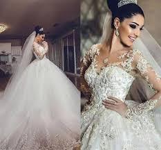 discount african vintage wedding dresses 2016 2017 sheer neck 3d