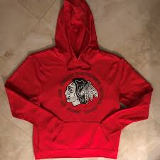 Majestic Hoodie Size Chart Details About Chicago Blackhawks Synthetic Pullover Hoodie Large Red Awesome Logo Majestic Nhl