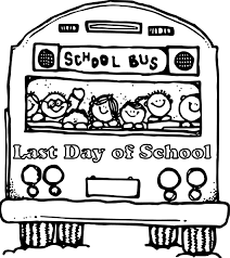 Small Picture Last Day Of School Bus Coloring Page Wecoloringpage Within Pages