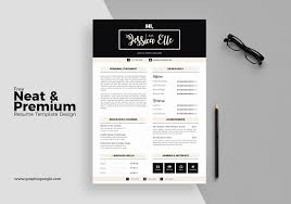 Free Indesign Resume Template Lovely Free Neat Premium Resume
