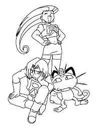Team Rocket Coloring Pages Pokemon Team Rocket Team Rocket