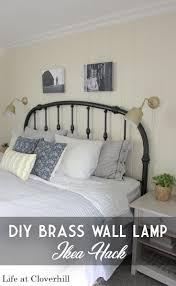 diy brass wall lamp ikea