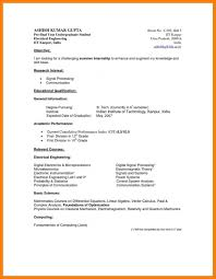 Curriculum Vitae Example Undergraduate Resume Templates Design For