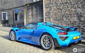 porsche 918 spyder blue. 1 i porsche 918 spyder weissach package blue