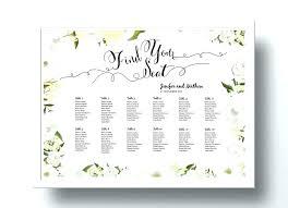 Wedding Seating Chart Posters Wedding Seating Chart Poster Editable