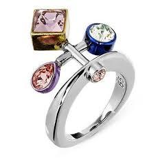 nib 249 atelier swarovski by peter pilotto arbol ring colored crystal 55 m 58
