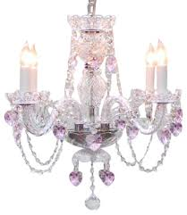 pink chandelier lighting. Crystal Chandelier With Pink Hearts Lighting G