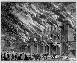 burning of the crosby opera house great chicago fire 1871