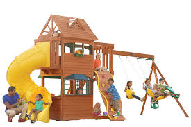 Big Backyard Sandy Cove Playset From Samu0027s Club Installed In Big Backyard Ashberry Wood Swing Set
