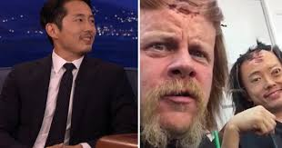 watch steven yeun talks walking dead on conan o brien
