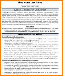 6 Examples Of Business Administration Resumes Inta Cf