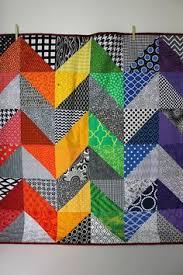 Rainbow Chevrons quilt, 47 x 60