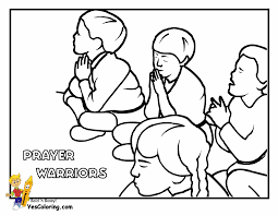 Great Children Praying Coloring Page 58 For Coloring Pages For