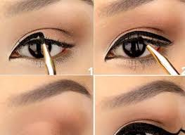 how to thick cat eye liner