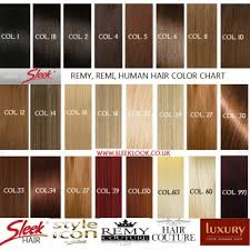 Remy Colour Chart Sleek Remy Couture Uk Highest Quality Remi Human Hair