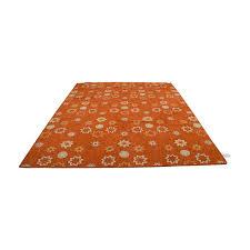 obeetee obeetee orange white fl rug on