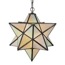 meyda tiffany moravian star 18 in mahogany bronze single tinted glass star pendant