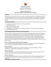 Cover Letter Guidelines Robert H Smith School Of Business