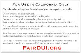california dui checkpoint flyer california dui fair dui