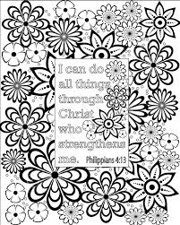 Small Picture Flower coloring pages Bible verse coloring sheets Set of 5