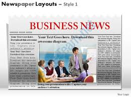 Newspaper Powerpoint Template Best Newspaper Layouts Style 48 Powerpoint Presentation Slides
