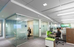 office ceilings. Office Interiors Across The Globe Benefit From Design, Acoustics, Indoor Air Quality, Lighting And Fire Safety Of Rockfon® Stone Wool Ceiling Panels Ceilings E