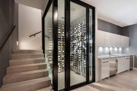 sleek and sophisticated this wine room at 321 ocean unit 201 has a storage capacity of 440 bottles