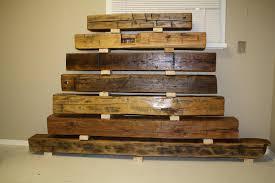 image of barn beam reclaimed wood fireplace mantel