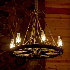 chair good looking led lights for chandelier 6 bulbs wagon wheel cabin delightful led lights for