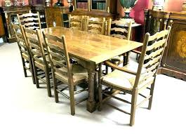 dining tables dining tables with 8 chairs round table antique solid oak second hand yew