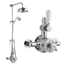 hudson reed topaz exposed valve inc rigid riser kit diverter 8 shower rose handset