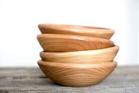 handmade wooden salad bowl cherry small 7 by farm bowls wood solid handmade wooden salad bowls