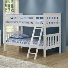 camaflexi santa fe mission low bunk bed twin over twin angle ladder hayneedle