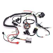 amazon com cisno complete electrics wiring harness wire loom cisno complete electrics wiring harness wire loom magneto stator for gy6 4 stroke engine type