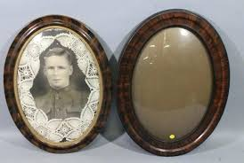 antique oval picture frames lot of oval frames with convex curved bubble glass qty 2 one antique oval picture frames