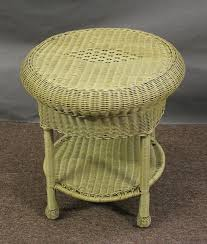 round wicker end table white wicker table lamps
