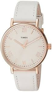 women s timex southview 37 white leather band watch tw2r28300 loading zoom