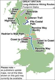 Pennine Way Distance Chart Great Britain Footprint Maps Of Long Distance Hiking Routes