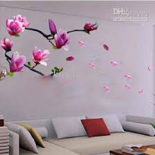 Removable Wall Stickers,Bedroom,Living Room Tv Wall Art Stickers,Magnolia  Flowers Wall Sticker Decal Retro Wall Stickers Reusable Wall Decals From  Kingkuang ...
