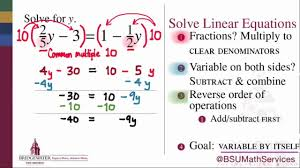 solving linear equations with fractions math 095 goal topic 2a 2b