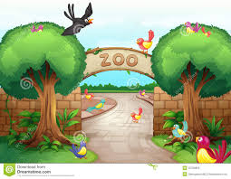 zoo entrance clip art. Brilliant Entrance Download Zoo Scene Stock Vector Illustration Of Bird Clipart  32709855 And Entrance Clip Art